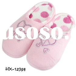 Pink Rivet Heart Soft Lady Indoor Slippers