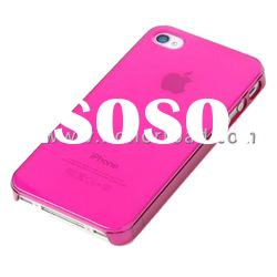 Pink Ultra Thin Crystal Cover Case for the iPhone 4