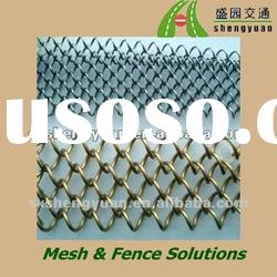 Plastic coated chain link wire fencing roll/galvanized or pvc coated chain link fence