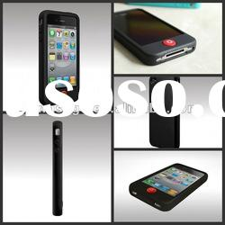 Popular eco-friendly dark chariming non-stick silicone case for iphone 4 4s mobile phone case