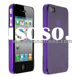 Purple Ultra Thin Crystal Case Cover for the iPhone 4