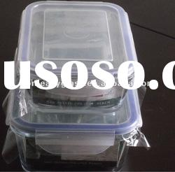 Rectangle glass storage set / glass food container with air-tight silicone rubber lid