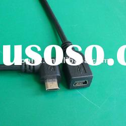 Right Angle Micro USB to MINI USB Cable Male to Female