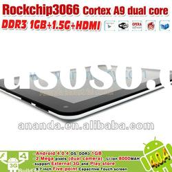 "Rockchip Tablet Dual Core 1.5GHz Android 4.0.4 3066 Support 9.7"" IPS Capacitive Touch Screen"