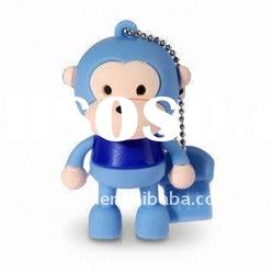 Rubber monkey shape usb flash drives in hot sales---mini usb