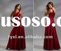 SD1599 one shoulder red prom dress