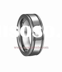 Shiny tungsten wedding rings