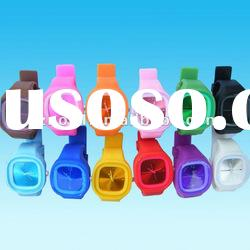 Square shape jelly silicone wrist watch waterproof silicone bracelet watch