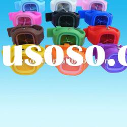 Square shape jelly watch silicone bracelet waterproof silicone bracelet watch