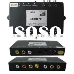 T015 Mobile ISDB-T Digital TV receiver with 2 Audio/Video output for car use in Brazil, Argentina