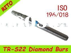 TR-S22 Round End Taper Diamond Burs ,Good Quality Dental Diamond Burs - Rito Dental Quality Products