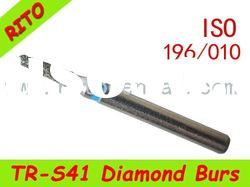 TR-S41 Round End Taper Diamond Burs ,Good Quality Dental Diamond Burs - Rito Dental Quality Products