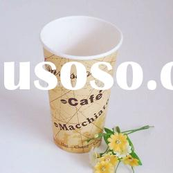 Take-away 16oz paper vending cup with printing