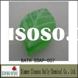 Top Quality Transparent Bath Soap For Green Tea Fragrance