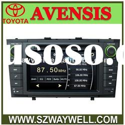 Toyota Avensis car gps with dvd player