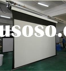 """VS-ES200"""" motorized screen with AOK remote control & AOK tubular motor"""