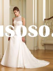Wholesale Custom New Style Sleeveless Strapless High Neck Wedding Dresses Wedding Gown MCW-067