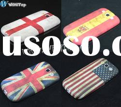 Wholesale price national Flag Case Cover for SAMSUNG Galaxy S3 i9300,cartoon case for i9300