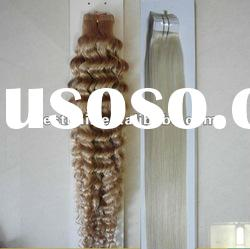 Wholesale super quality adhesive tape,wavy hair,tape hair extensions