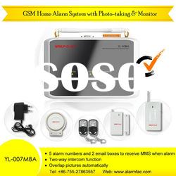 Wireless GSM Camera Alarm System, MMS / SMS / Auto-Dial / Listen-In / Monitor
