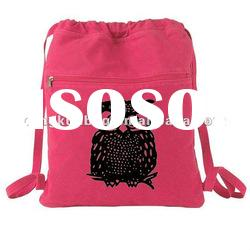 With Zipper Pocket Colorful Canvas School Bag