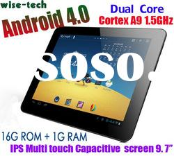 "Wopad I9 IPS capacitive Dual Core 9.7"" tablet pc Android 4.0.4"