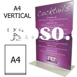 acrylic A4 vertical counter-top display