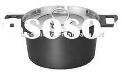 aluminium die-cast marble coating soup pot/stock pot