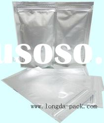 aluminum foil bag with zipper and tear notch