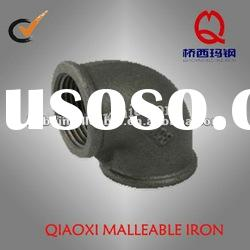 black Malleable Iron pipe fitting, beaded elbow