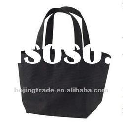 black cotton fabric tote bags