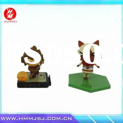 bouncing animal toy cat and monkey