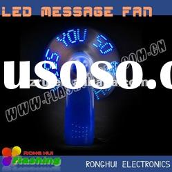 brandnew led mini battery fan with flashing message