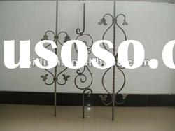 china factory wrought iron stair parts for fence gate railings