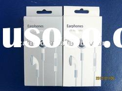 color handsfree earphone with remote and mic for IPH 3G 4G 4S