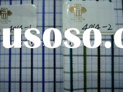 cotton polyster stock/check/woven shirt fabric