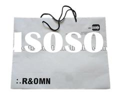 custom brown / white kraft paper clothes packing bags printing service
