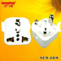 extension multi electrical travel plug&universal socket/South Africa 3 pin metal plug socket