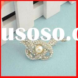 fashion zinc alloy metal costume jewelry large crystal brooch