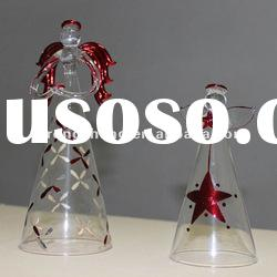 glass hand painted christmas angel ornaments