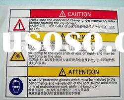high quality durable security / warning label printing