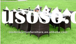 high quality outdoor PE rattan furniture garden patio dining table chair