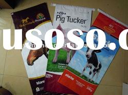 horse feed sacks, pig feed sacks, cattle feed sacks