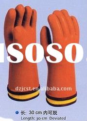 industry PVC gloves with sleeve construction gloves