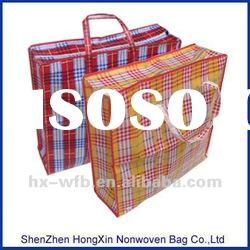 laminated pp non woven bag with check pattern