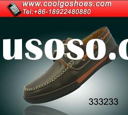 leather men casual shoe factory direct suppy