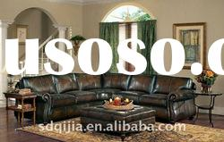 leather sofa American style living room round sectional sofa