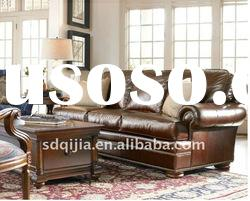 luxury leather sofa American classic style living room sets