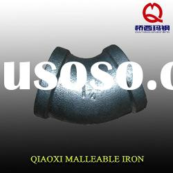 malleable iron pipe fittings, elbow 45 degree