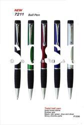 metal ball pen with rubber grip